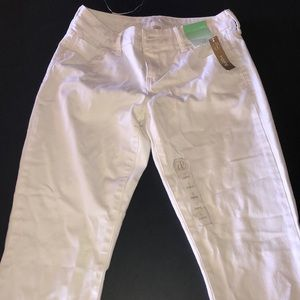 Decree sz 5 jeggings white jeans